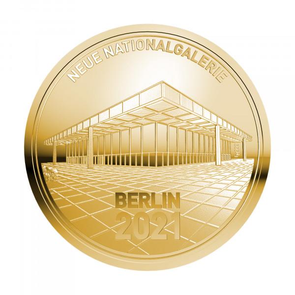Sonderprägung Neue Nationalgalerie - Gold